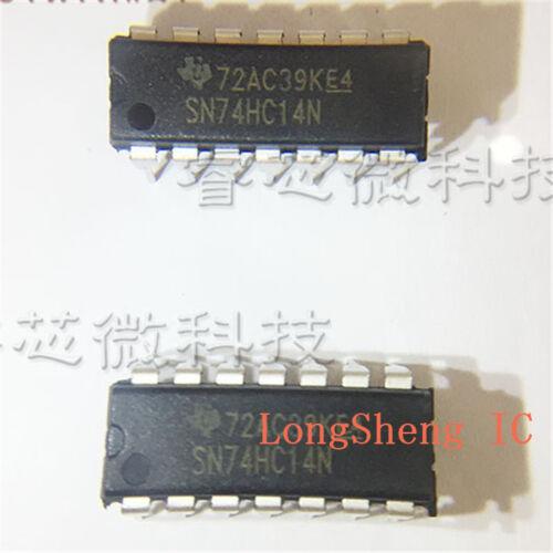 50 PCS SN74HC14N DIP-14 74HC14 Hex Schmitt Trigger Inverters new