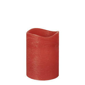 "6 Led-cigare Bougie ø 75 Mm 100 Mm Rouge ""rustic"" Incl. Piles-ze Ø 75 Mm 100 Mm Rot ""rustic"" Inkl. Batterien Fr-fr Afficher Le Titre D'origine"