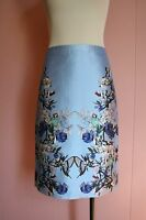 Jcrew Collection No. 2 Pencil Skirt In Hummingbird Floral 2 Bright Hydrangea