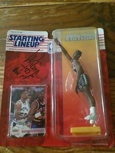 David Robinson Nba San Antonio Spurs figurine de départ signée / dédicacée