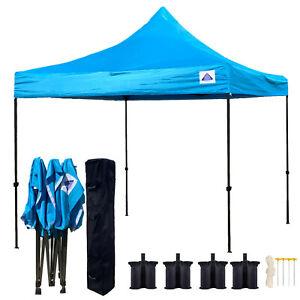 10 X10 Pop Up Canopy Tent Ez Instant Shelter W Wheel Bag