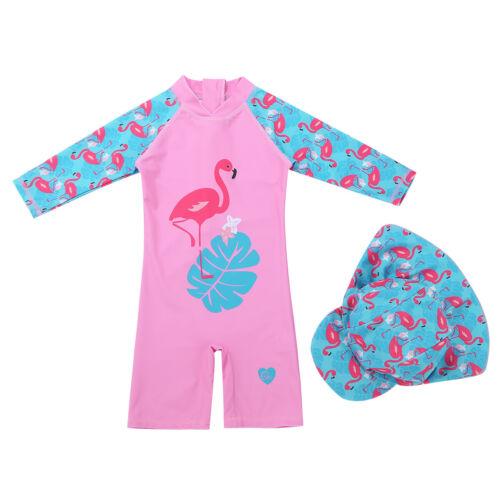 Bambini Ragazzi Ragazze Costume da Bagno Cerniera da bagno Costumi da Bagno Cappello Rash Guard Surf Ultraviolet fattore di protezione 50+
