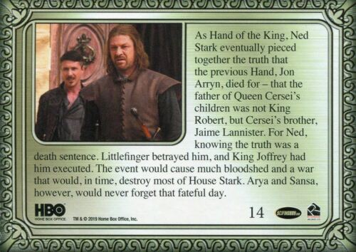 Game Of Thrones Inflexions Base Card #14 Robb Captures Jaime