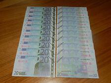 Lot de 10 Billets de 20 EURO - ECHANTILLON - Test Note - NEUF UNC