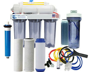RO-DI-Aquarium-Reef-Clear-Reverse-Osmosis-System-150-GPD-Single-DI-Manual-Flush