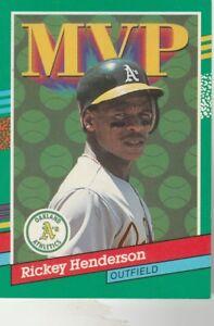 FREE-SHIPPING-MINT-1991-Donruss-Oakland-Athletics-387-Rickey-Henderson-MVP-2