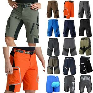 Men-Women-Padded-Riding-Trouser-Cycling-Shorts-Mountain-MTB-Bicycle-Pants-Unisex