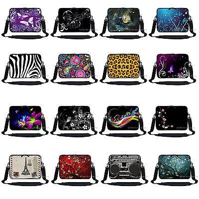 """Neoprene Laptop  Sleeve Bag Case with Hidden Handle Fit 13.3/"""" 13/"""" 2715"""