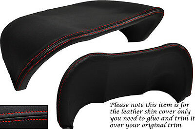 RED STITCH FITS RENAULT MEGANE 2003-2008 SPEEDO GAUGE HOOD LEATHER COVER ONLY