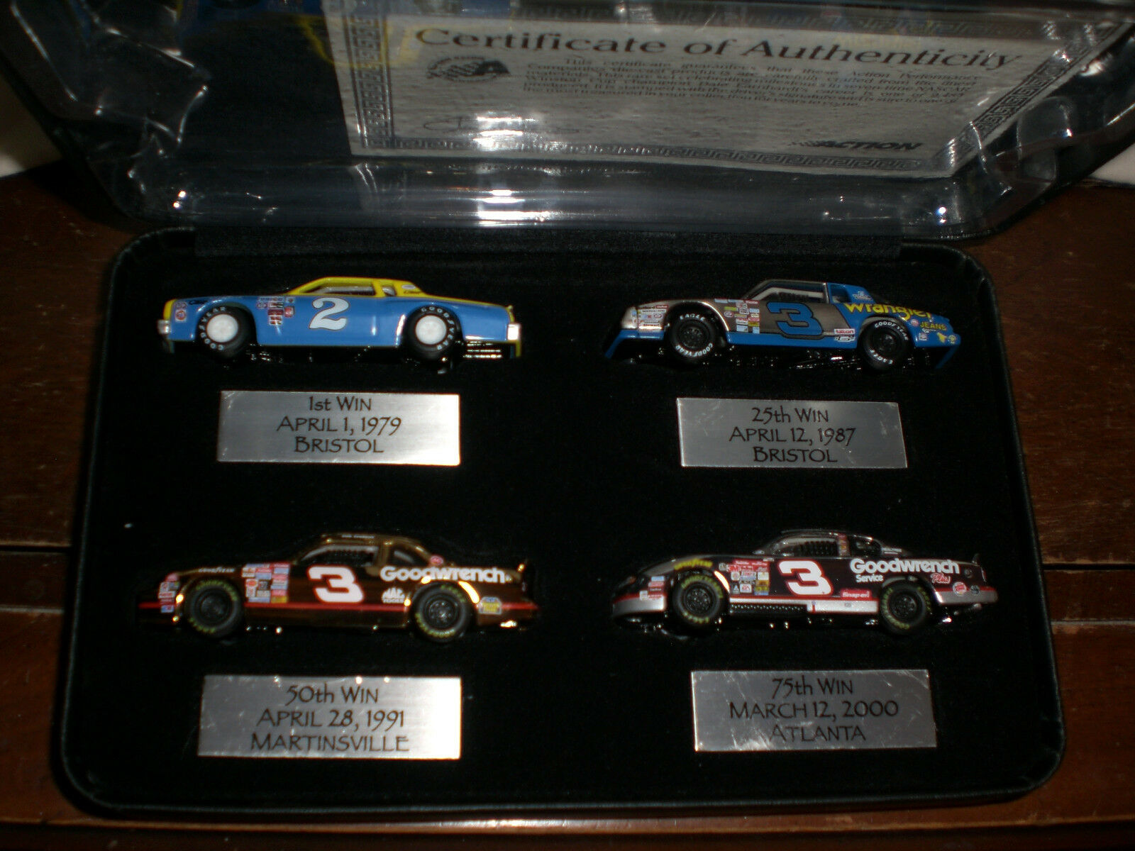 Dale Earnhardt Milestones in Racing 1 64 Chevy 4 Car Assortment Action 2001 RARE