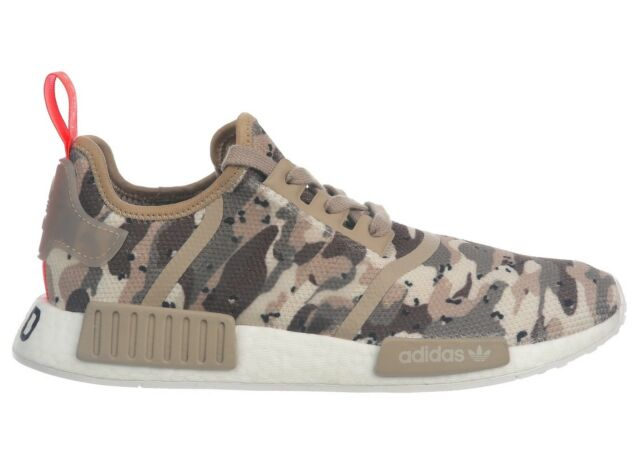 timeless design 0e244 344b3 adidas NMD R1 Camo Pack Mens G27915 Clear Brown Boost Running Shoes Size 10