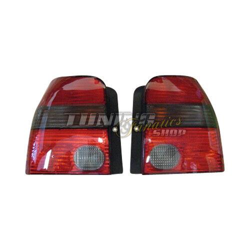 2x Original VW Lupo GTI Rückleuchten SET in Rot Schwarz Windsor
