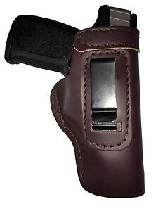 LT-CUSTOM-MAHOGANY-IWB-Leather-Gun-Holster-YOU-CHOOSE-rh-lh-laser-slide-belt-mag