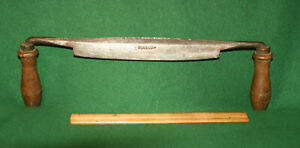 Fine-User-Heavy-Duty-10-034-034-PHILIP-LAW-034-Antique-Timber-Framing-Drawknife-Inv-IG02