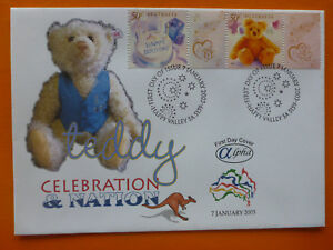 2003-ALPHA-CELEBRATION-amp-NATION-039-TEDDY-039-ILLSUTRATED-FDC-2-STAMPS