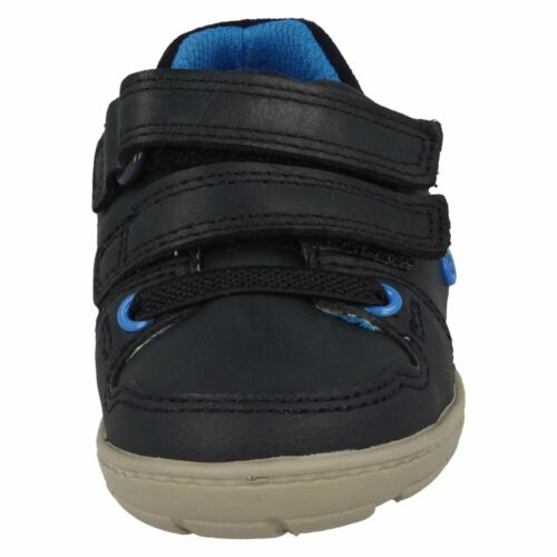 Boys Clarks Tolby Boo Navy Leather First Walking Shoes F G /& H Fittings