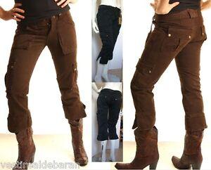 Pantaloni Capri Donna Jeans FLY GIRL A276 Tg  40 42 44