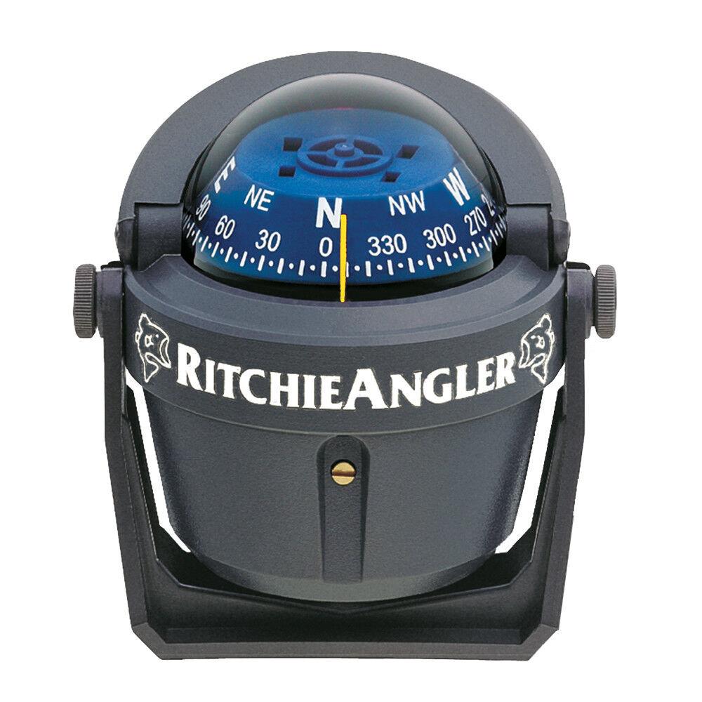 Ritchie Stiefel Marine Halterung Angler Kompass RA-91 Grau mit Grünem Aufdruck
