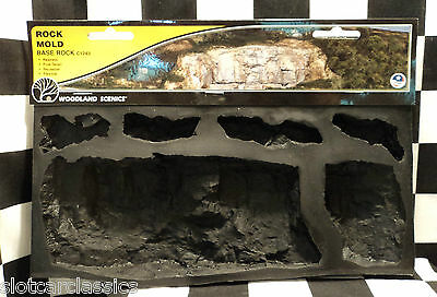 WOODLAND SCENICS BASE ROCK - ROCK MOLD FLEXIBLE & REUSABLE MODEL SCENERY C1243