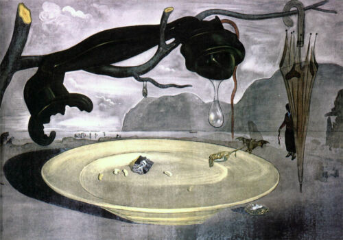 The Enigma of Hitler  by Dali   Giclee Canvas Print Repro