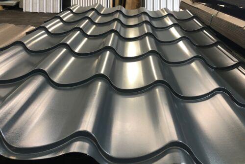 Tile Effect Roof Sheets Plastisol ** HPS Anthracite **
