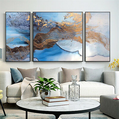 3 Pieces Abstract Painting Acrylic Wall