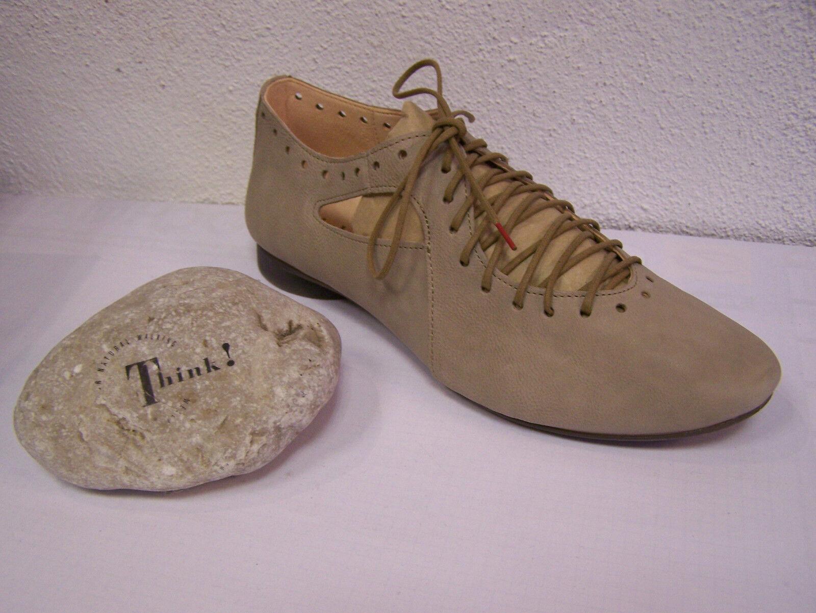 Think  Chaussures Modèle Guad Lacets jute Texano Calf avec changement Semelle Intérieure & sachet