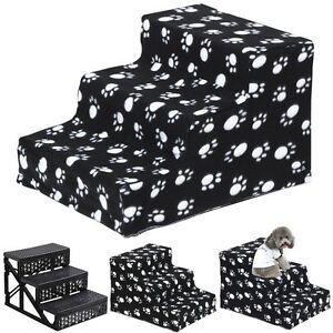 New-Pet-Dog-Ladder-3-Steps-Soft-Stairs-Puppy-Washable-Cover-Ramp-Foldable-Doggy