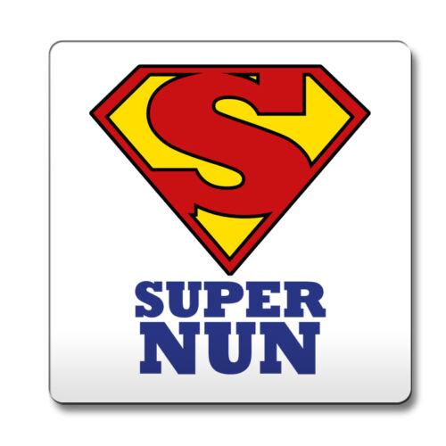 Royal Blue SUPER Nun hero novelty job title Coaster funny 137