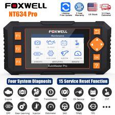 Foxwell Nt634 Pro Obd2 Diagnostic Scanner Code Reader Srs Epb Sas Oil Tpms Reset