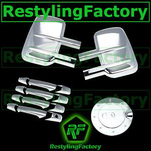 07-14-Chevy-Silverado-GMC-Sierra-Chrome-Towing-Mirror-4-Door-Handle-Gas-Cover