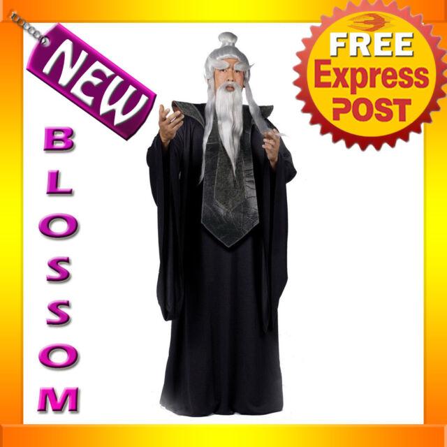 C374 Sensei Master Ninja Kungfu Halloween Adult Fancy Dress Up Party Costume