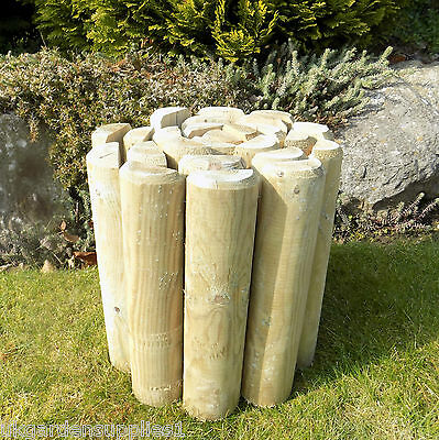 270mm High log Roll - Log Rolls - Lawn Border Edging - Timber Garden Edge  5060243371652 | eBay