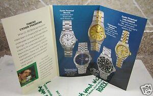 Vintage-1991-Rolex-Seadweller-4000-Tri-Fold-Booklet-English