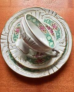 Sammeltasse-Kaffeegedeck-DDR-Porzellanmanufaktur-Plaue-70-80er-Jahre-Rosenmotiv
