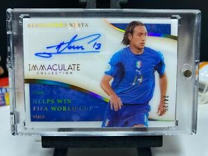 2020 Panini Immaculate Soccer ALESSANDRO NESTA Moments Autograph 24/25 AUTO