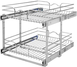 Charmant Image Is Loading Pull Out Cabinet Basket 2 Tier Kitchen Organizer
