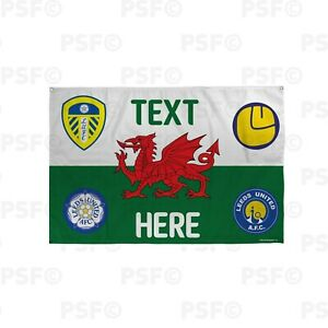 Leeds-United-FC-Official-Personalised-Wales-Flag-Welsh-Dragon-LUFC-Crests-Banner
