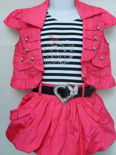 Girls Fantastic Top Tartan Skirt Attached with Bolero 2 Colours
