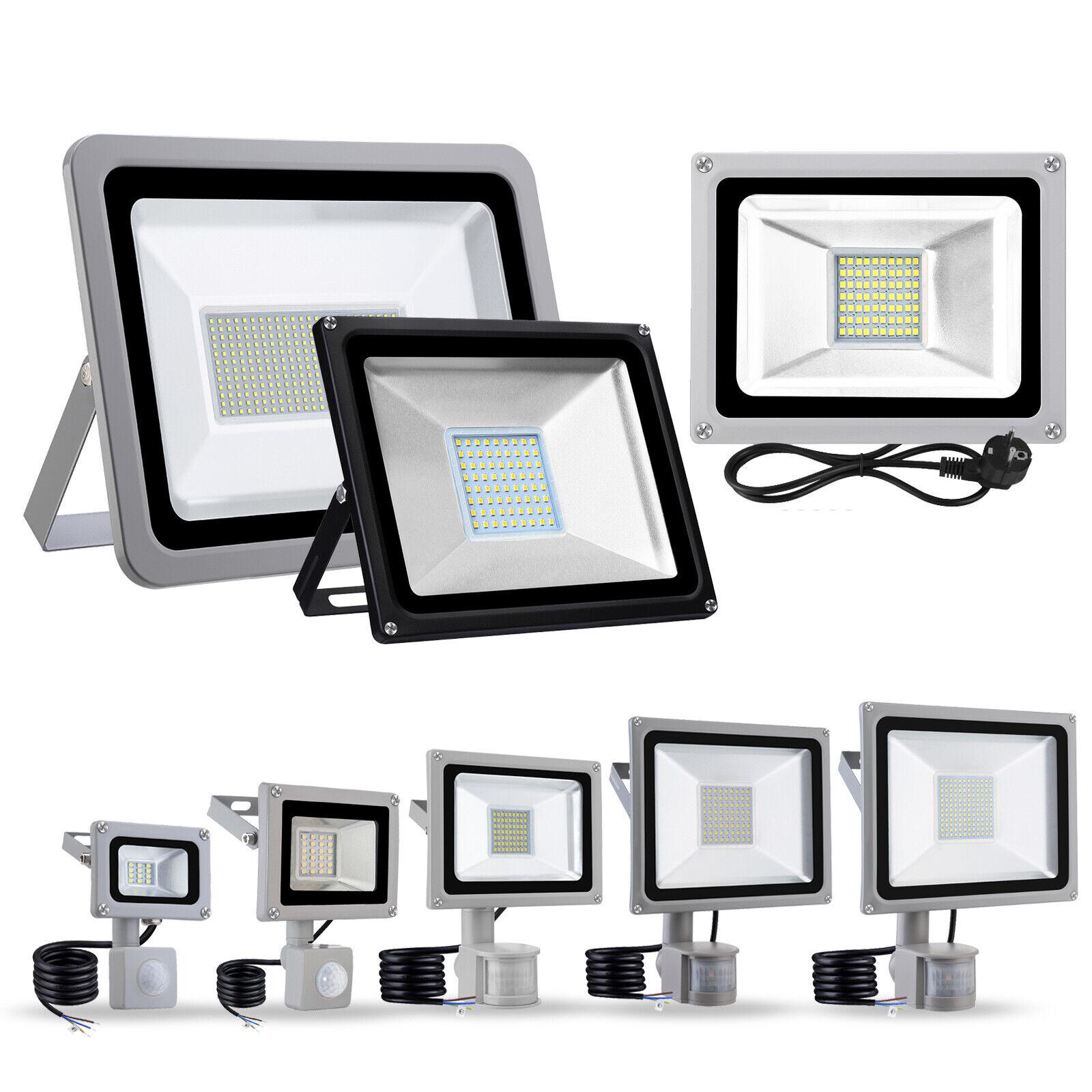 LED Flutlicht Fluter 10W 20W 100W 300W 500W Außen Baustrahler Scheinwerfer Lampe