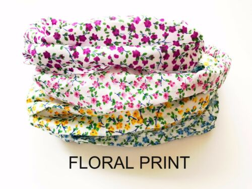 Girls//Kids Floral Print Hairband Headband Children Bandanas Headscarf-UK SELLER