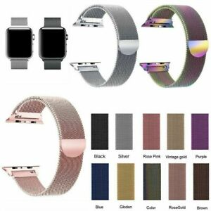 38-40-42-44mm-For-Apple-Watch-Strap-Series-5-4-3-2-1-Magnetic-Milanese-Loop-Band