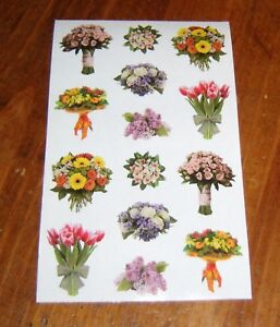 Strip of RETIRED ROSE Sticker/' Mrs Grossman ROSE BOUQUET Photoessence