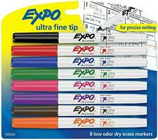 Expo 1884309 Low Odor Dry Erase Markers Ultra Fine Tip Assorted Colors 8 Coun