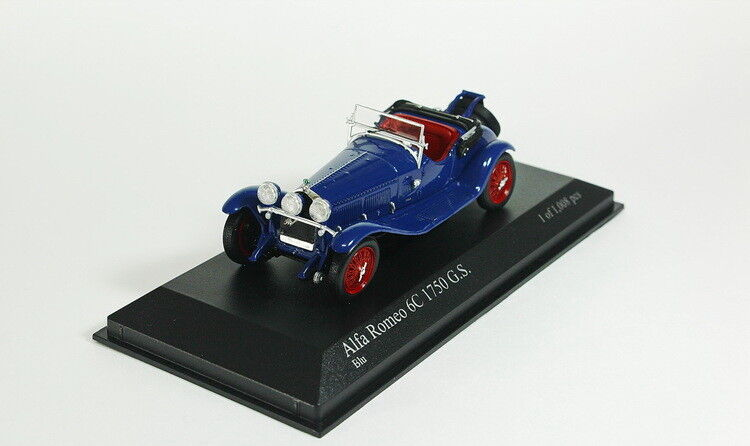 ALFA ROMEO 6C 1750 G.S. 1930 bluee  , model cars 1 43