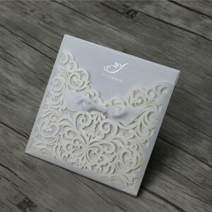 Details About Laser Cut Vintage Wedding Engagement Invitation Cards Free Personalized Printing