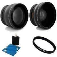 Tele Lens + Wide +uv Bundle For Panasonic Hc-v710pc Hc-v720pc Hc-v750m Hc-w850m