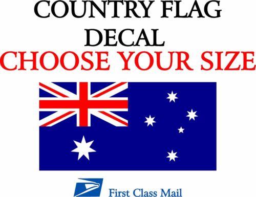 DECAL AUSTALIA COUNTRY FLAG 5YR VINYL STICKER STATE FLAG