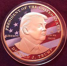 U.S.A,USA,DONALD TRUMP US PRESIDENT COMMEMORATIVE COIN.UNCIRCULATED.ENCAPSULATED