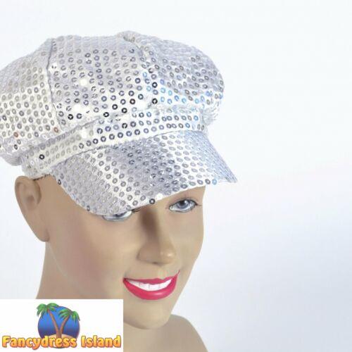 Années 1980 style silver sequins glamour PAC femme accessoire robe fantaisie